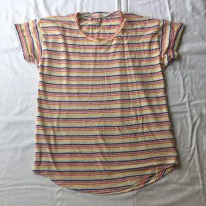 Madewell rainbow stripe whisper cotton tee